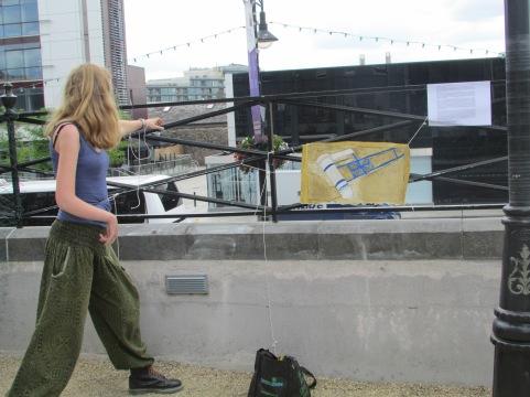 Performance, Art on the Railings, June 2014
