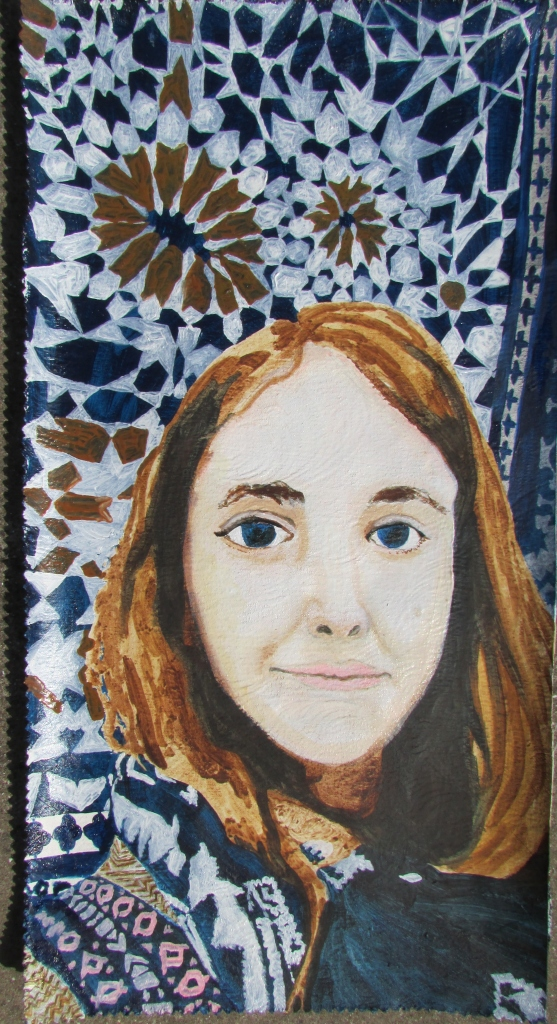 'Similitude - A Portrait of Shawnagh', oil on wallpaper